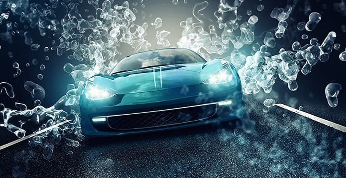Auto mit den Vorteilen einer Nanoversiegelung